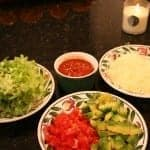 Meatless Mexican Bowl ingredients