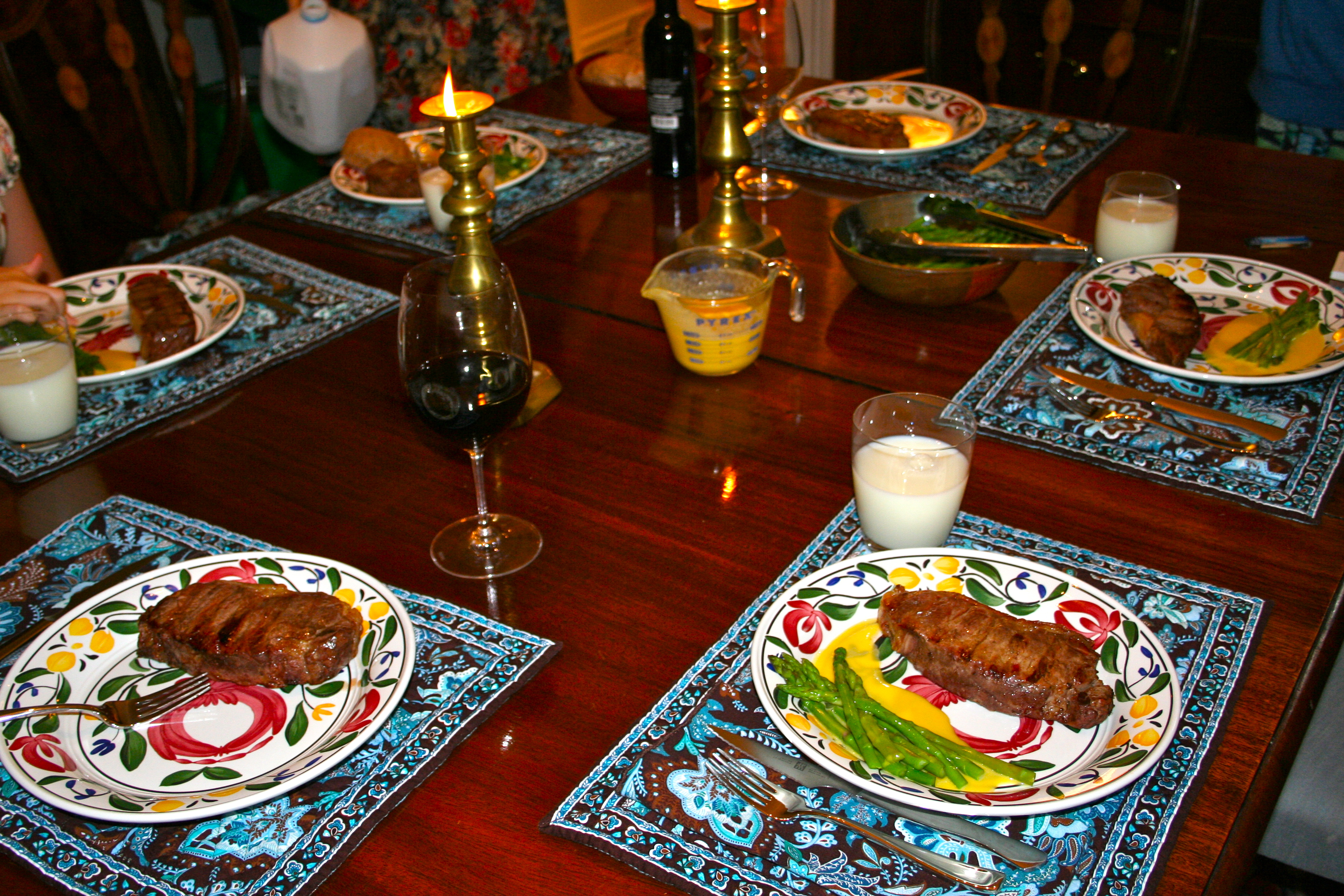 Family dinner table with food - I