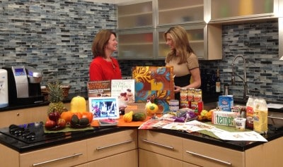 Talking about food allergies with News 12 CT.