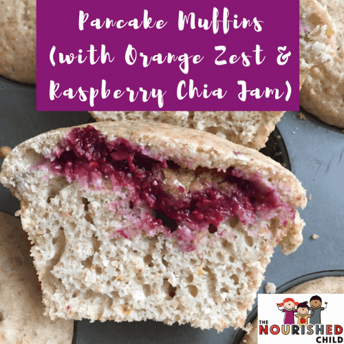 Pancake Muffins with Orange Zest and Raspberry Chia Jam