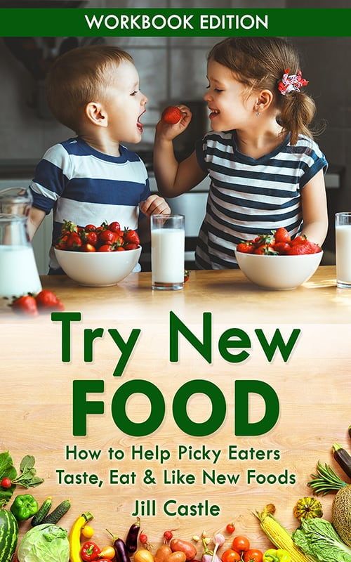 Book jacket of Try New Food workbook