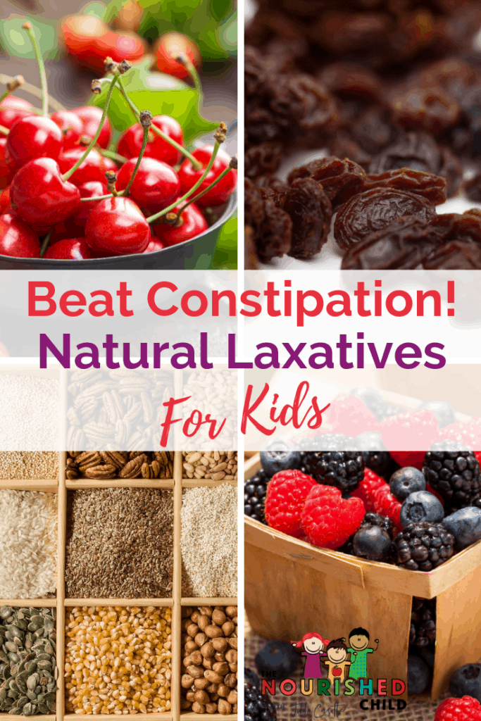 Natural laxatives for kids to help cure constipation