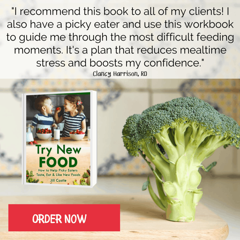 Try New Food book - Help picky eaters try new foods, even when they refuse to eat.